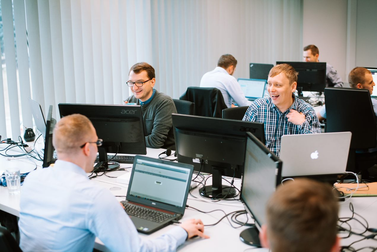 spyrosoft team at the office 2017