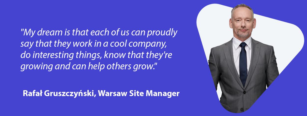 Rafał Gruszczyński Warsaw site quote